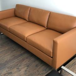 Brown Leather Sofa On Legs Second Hand Corner Sofas Leeds Mid Century Modern Milo Baughman For Thayer Coggin Goodland Designed By Features A Saddle Color And