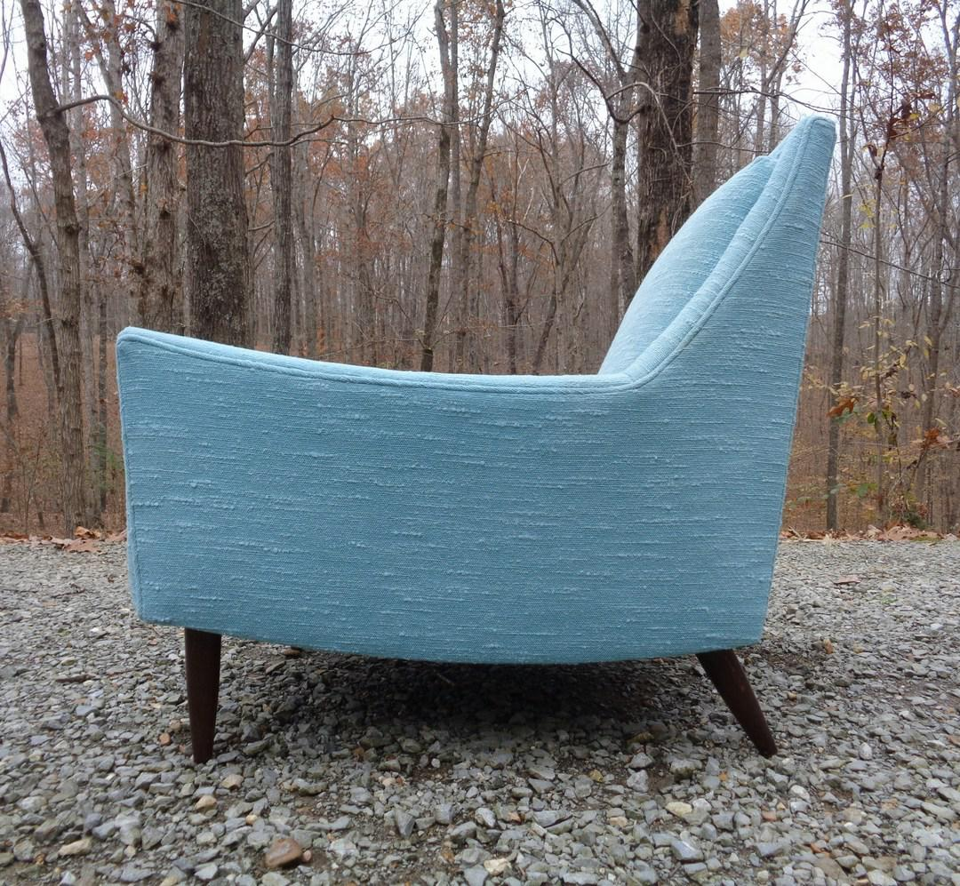turquoise lounge chair bedroom gray mid century danish modern style chairish contemporary for sale image 3 of 13