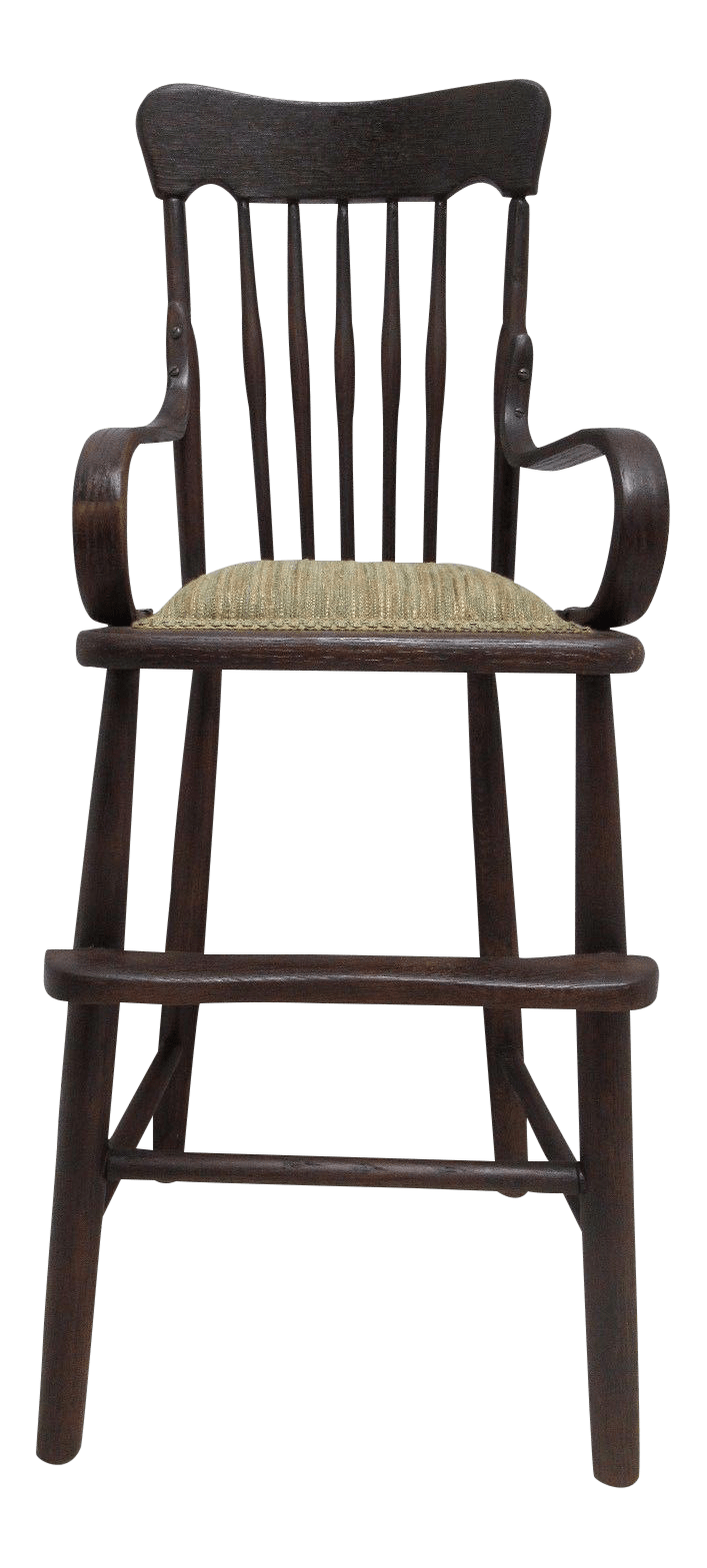 antique high chairs contemporary club tiger oak child s chair chairish