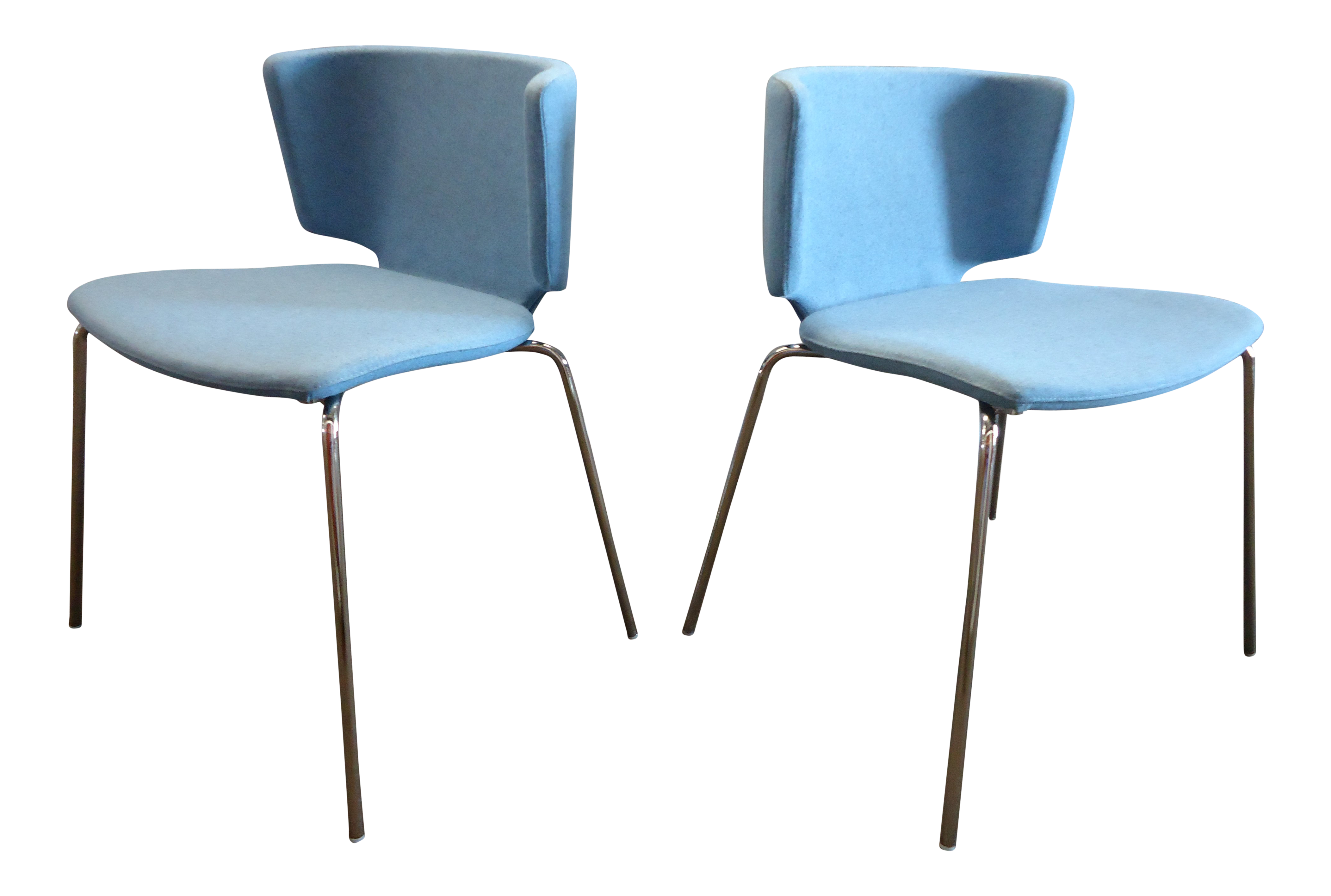 coalesse wrapp chair folding rentals queens ny spain mark krusin modern stackable blue guest chairs a pair for sale