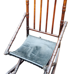 1920s Rocking Chair Portable Wobble 1920 39s Vintage Spindle Back Chairish