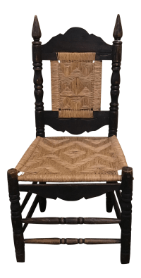 Antique Mexican Woven Chair | Chairish