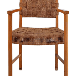 Seagrass Arm Chair College Dorm Chairs Incredible Beech And Woven Armchair Denmark 1940s Decaso For Sale