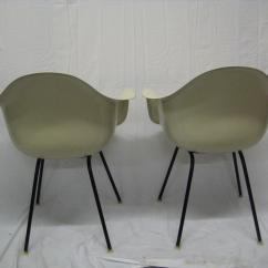 Eames Arm Chair Harley Davidson Folding 1957 Mid Century Modern Chairs A Pair Chairish For Sale Image 9