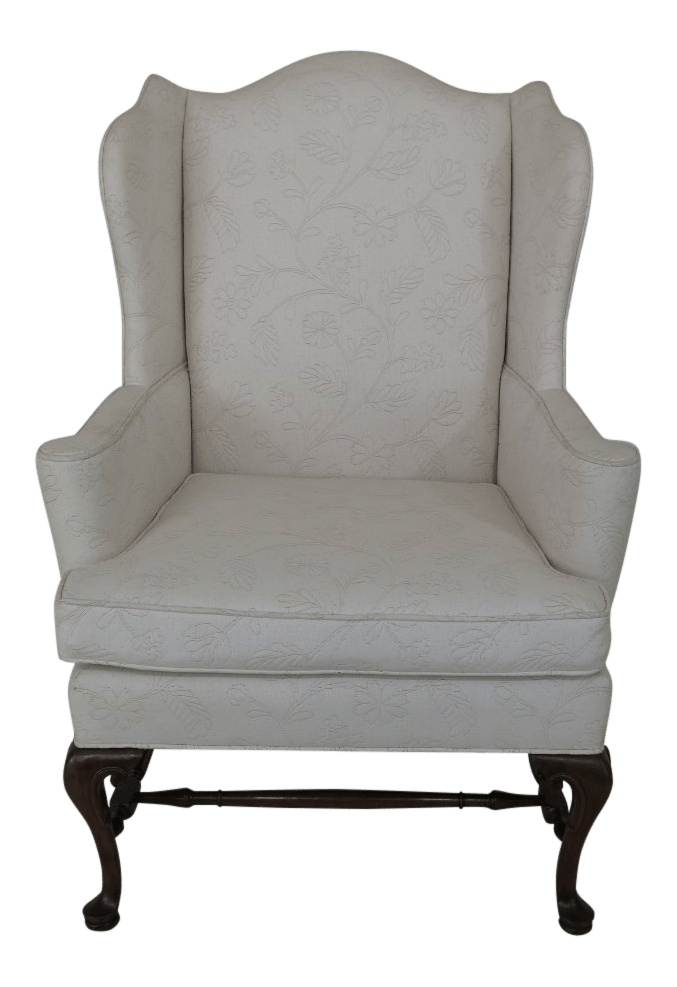 hickory chair co best folding quad off white upholstered wing chairish for sale