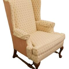 Ethan Allen Wingback Chairs Wicker Desk Chair Pottery Barn Accent Arm Ottoman Chairish 44 High 32 5 Wide 34 Deep Arms 26 Traditional