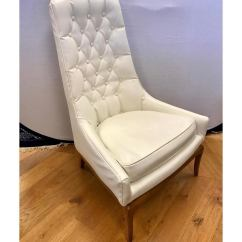 White Tufted Chair Bedroom Photos Superb Mid Century Widdicomb Robsjohn Gibbings Quilted Pair Of Button Chairs Done In A Faux Leather That Looks Like The