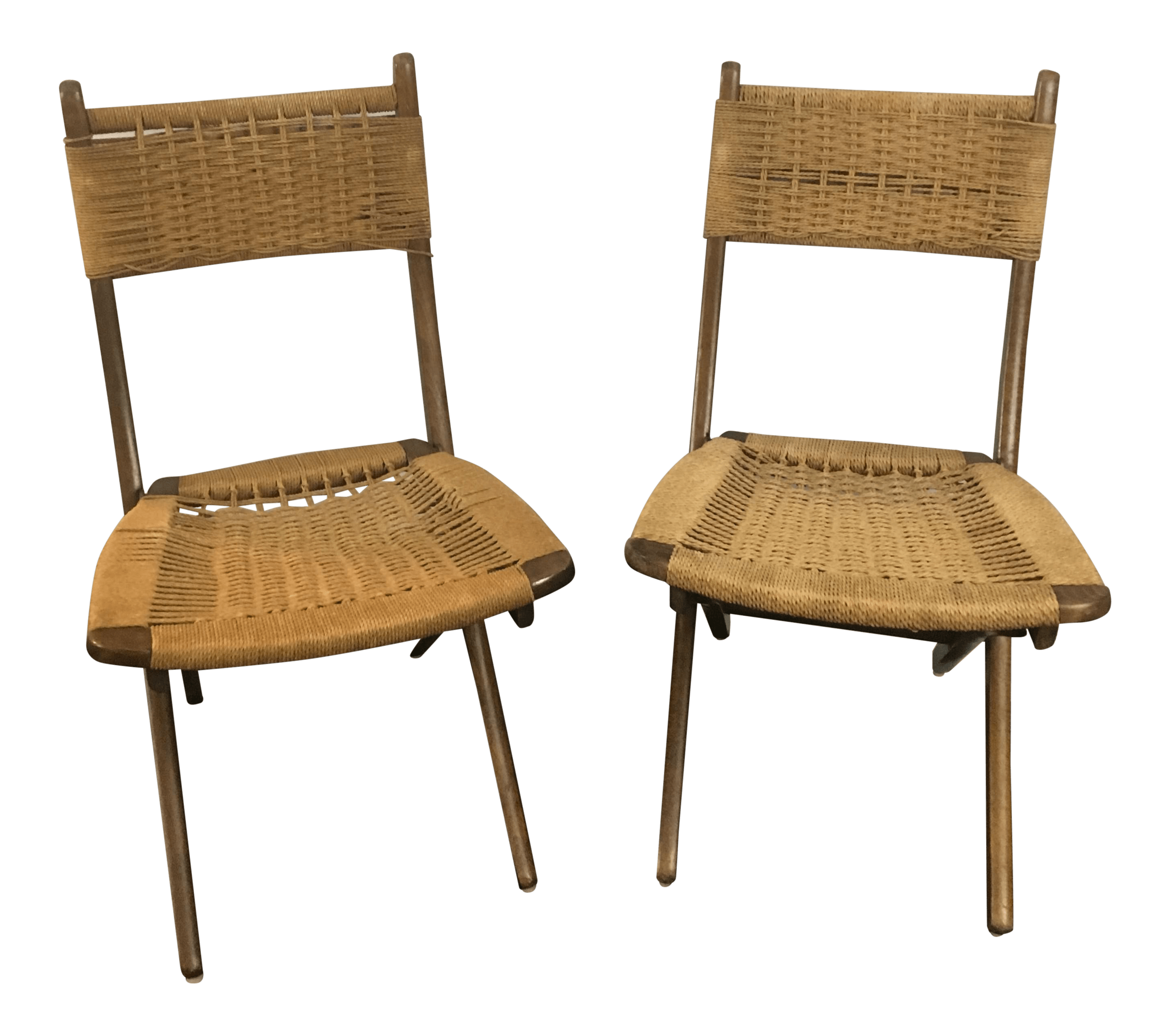 rope bottom chair wedding covers glasgow hans wegner folding chairs a pair chairish for sale