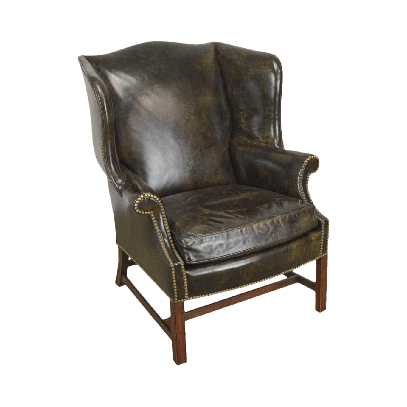 Used Wingback Chairs Vintage Used Leather Wingback Chairs Chairish