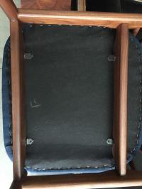 Mid Century Modern Teak Dining Chairs in Navy Blue - Set ...