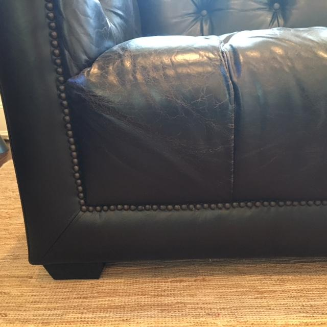 savoy leather sofa restoration hardware fabric cleaning machine new chairish for sale image 11 of