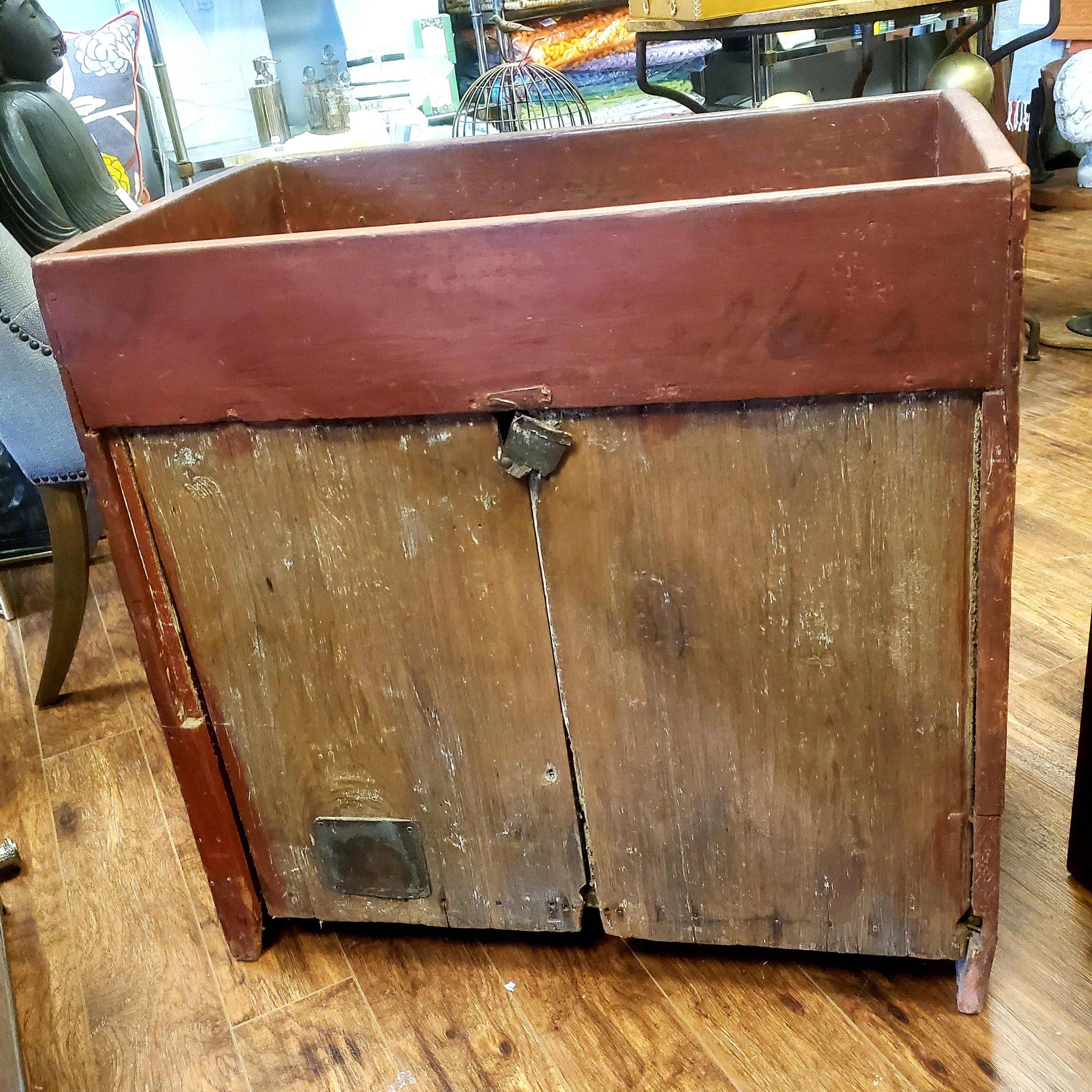 early 19th century dry sink potting table bar