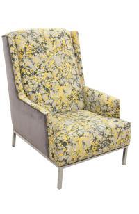 Mid Century Modern Wingback Chair | Chairish