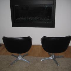 Swivel Pod Chair Folding Adirondack Plan Mid Century Chairs A Pair Chairish Modern For Sale