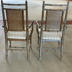 Cane Back Chairs For Sale Black Outdoor Rocking Chair Cushions Vintage Mid Century Victorian Style Faux Bamboo A 20th Pair