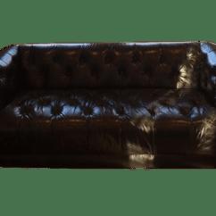 Savoy Leather Sofa Restoration Hardware Nice Sets New Chairish For Sale