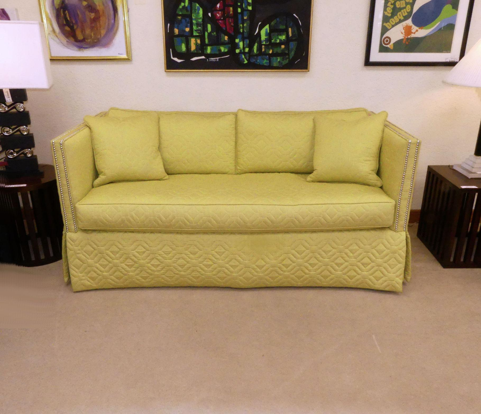 wesley hall sofas pelicula argentina sofa cama contemporary blake with nailhead trim chairish encore furniture gallery presents the blaine 71 by features a straight