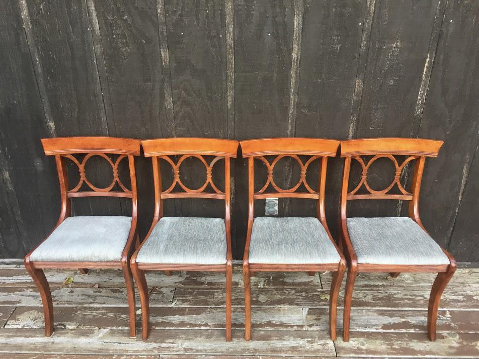 tell city chairs pattern 4548 hunting and stools mahogany chair co. - set of 4 | chairish