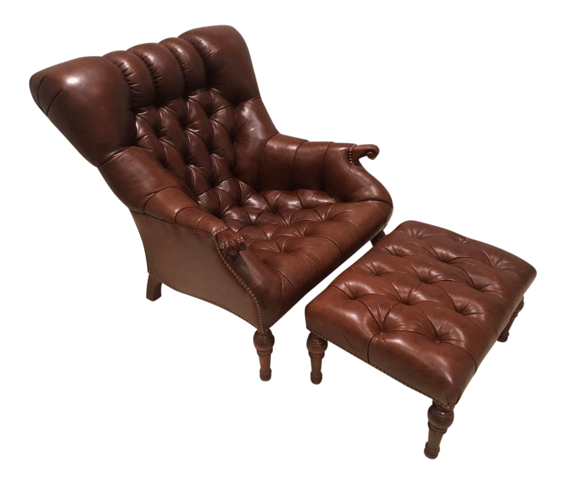 stickley leopold chair for sale brylanehome covers modern leather ottoman chairish