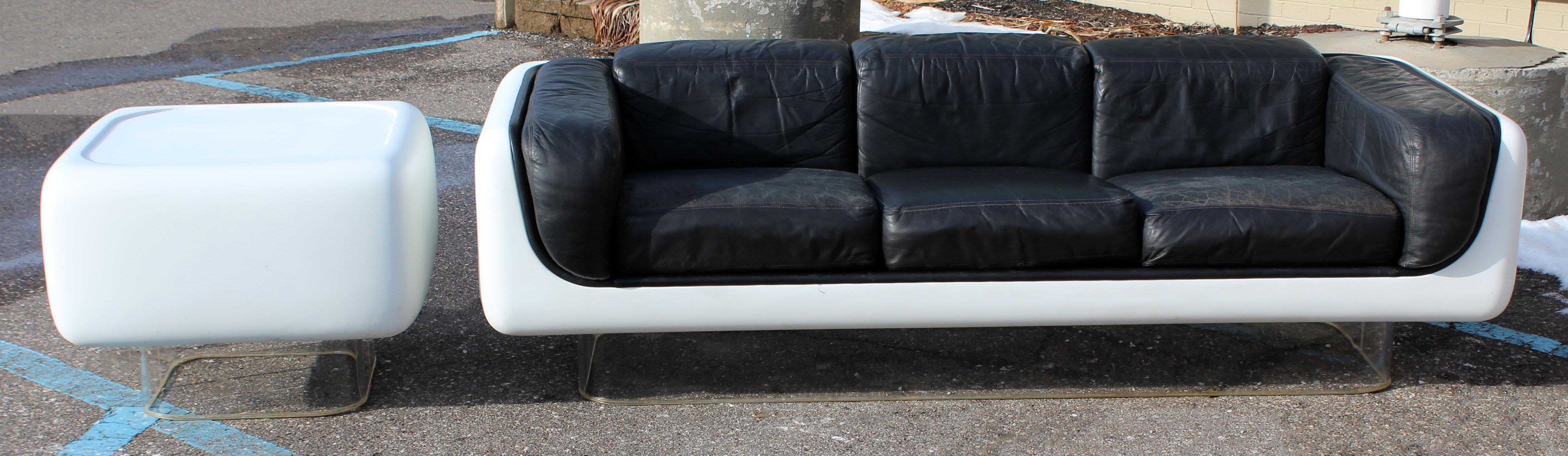 steelcase sofa platner oxford swansea sofascore luxury mid century modern warren fiberglass lucite 1970s end table for sale