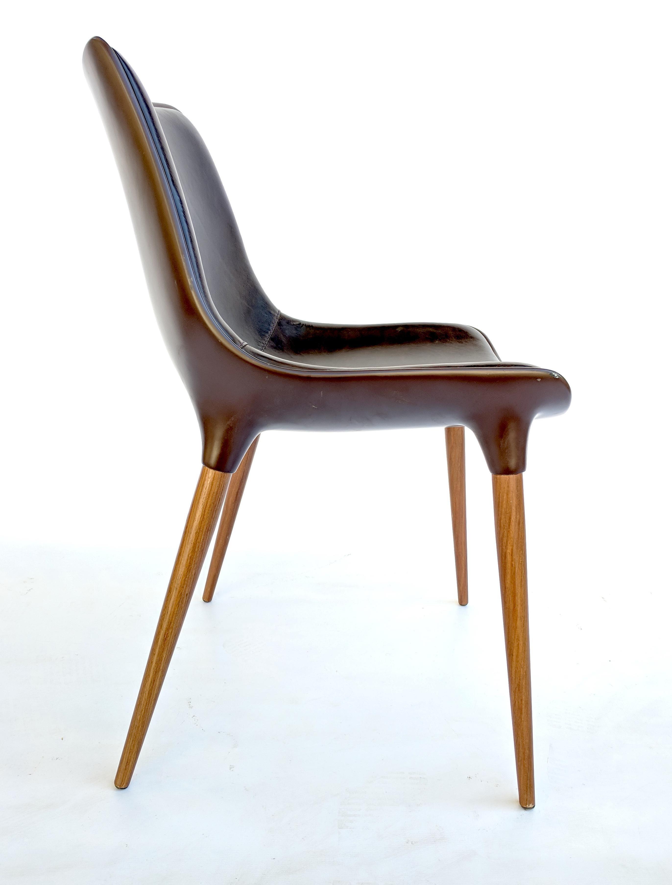 modloft dining chair hanging patio chairs marcelo ligieri for leather langham set of 4 sale in sacramento