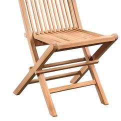Teak Folding Chair Saucer Moon Chairish Solid Premium Construction For Use Inside Or Outside Each