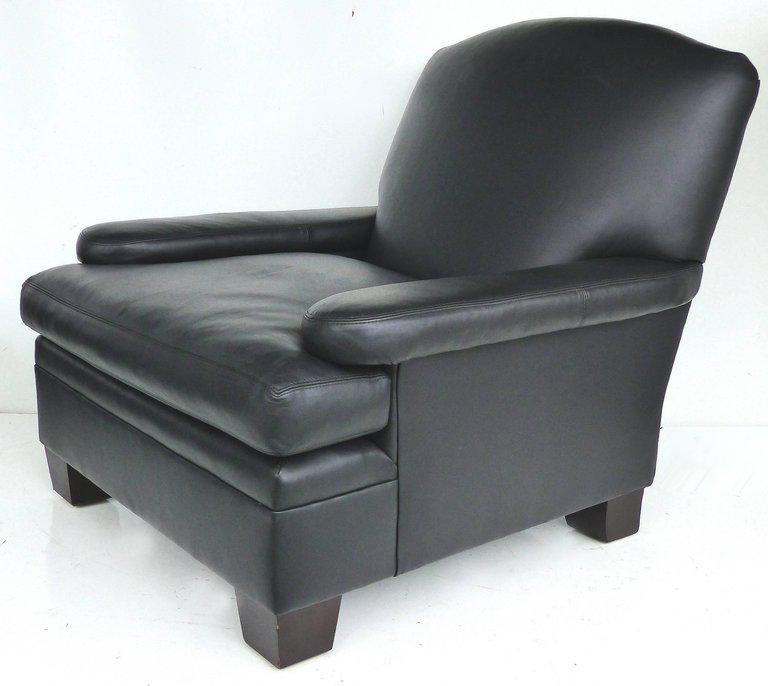 ralph lauren chair desk ottoman superior london leather club with matching henredon 2 pieces for sale