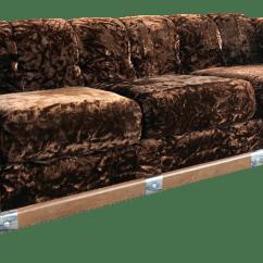 70s Sofa Comprar Bizkaia 70 S Crushed Brown Velvet Chairish For Sale