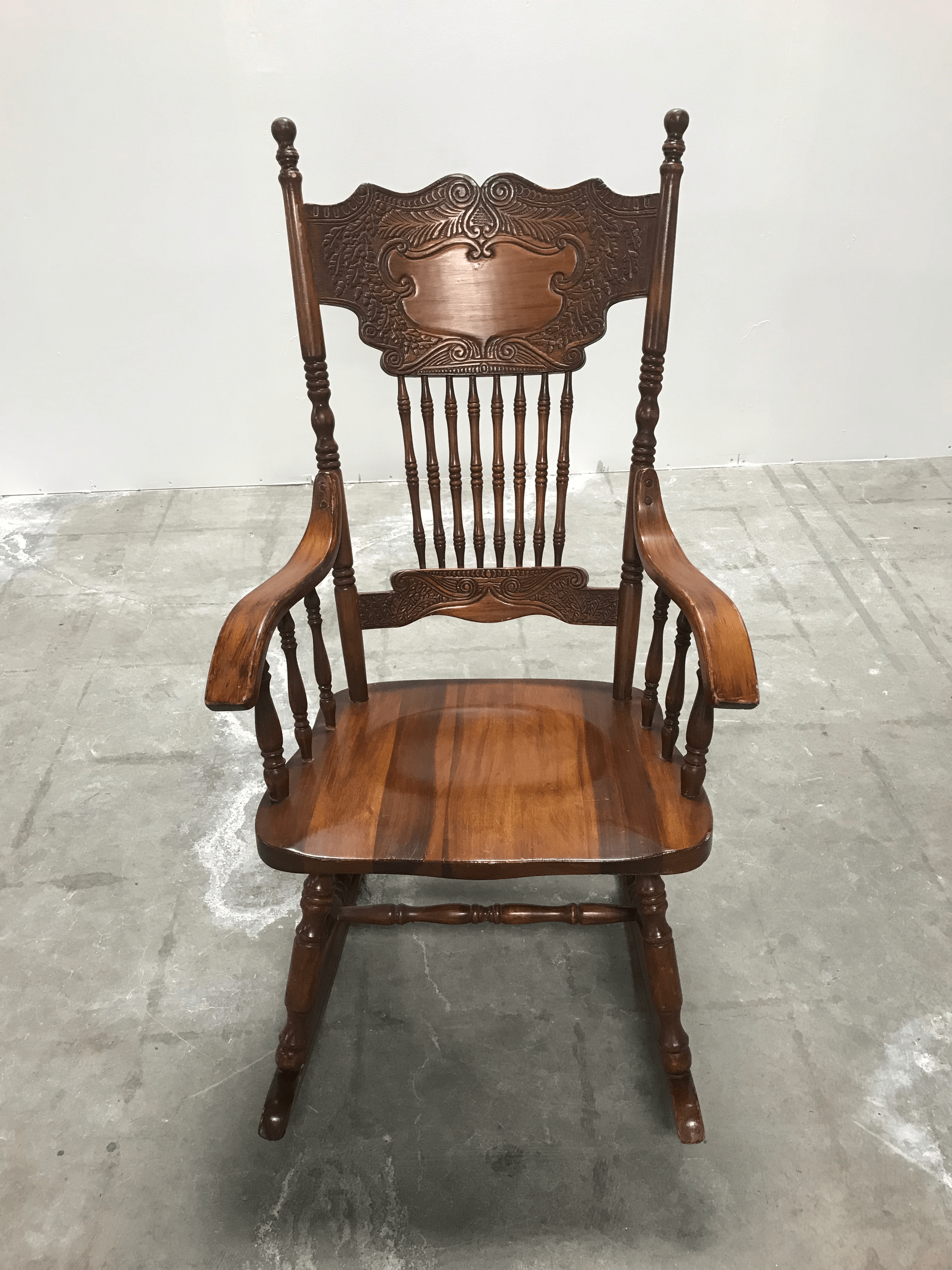 rocking chair fine woodworking king houston vintage mid century cottage wooden detail chairish exquisite detailing on a classic woodwork brings this piece together with all