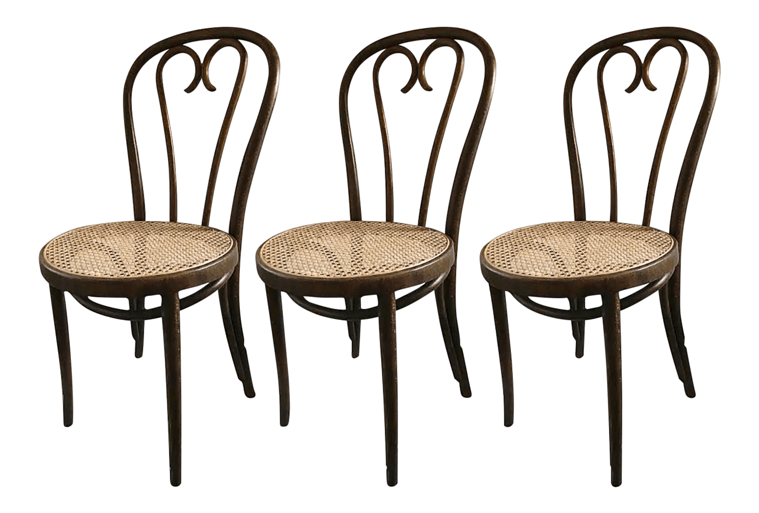vintage bentwood chairs modern chaise lounge living room late 20th century thonet style set of 3 chairish