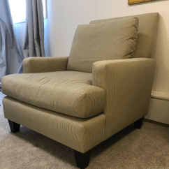 Oversized Upholstered Chair Match Fishing Cottage Lounge Club Chairish For Sale Image 4 Of 10