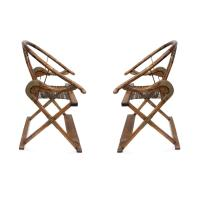 Antique Chinese Qing Dynasty Armchairs - A Pair | Chairish