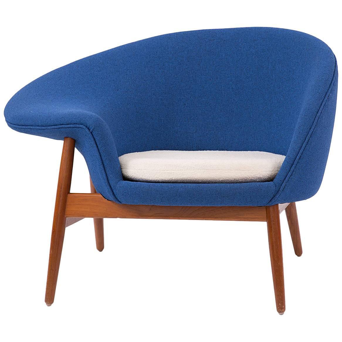 fried egg chair stool price fine 1950s hans olsen bramin blue decaso sculpting for sale image 7 of