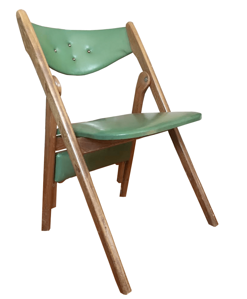 coronet folding chairs wooden rocking norquist vintage set of 4 chairish for sale