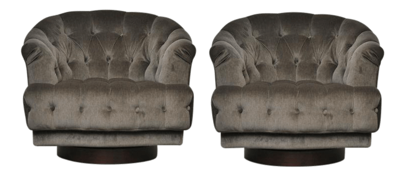 swivel lounge chairs pedicure spa south africa fine 1950s dunbar edward wormley tufted a pair for sale