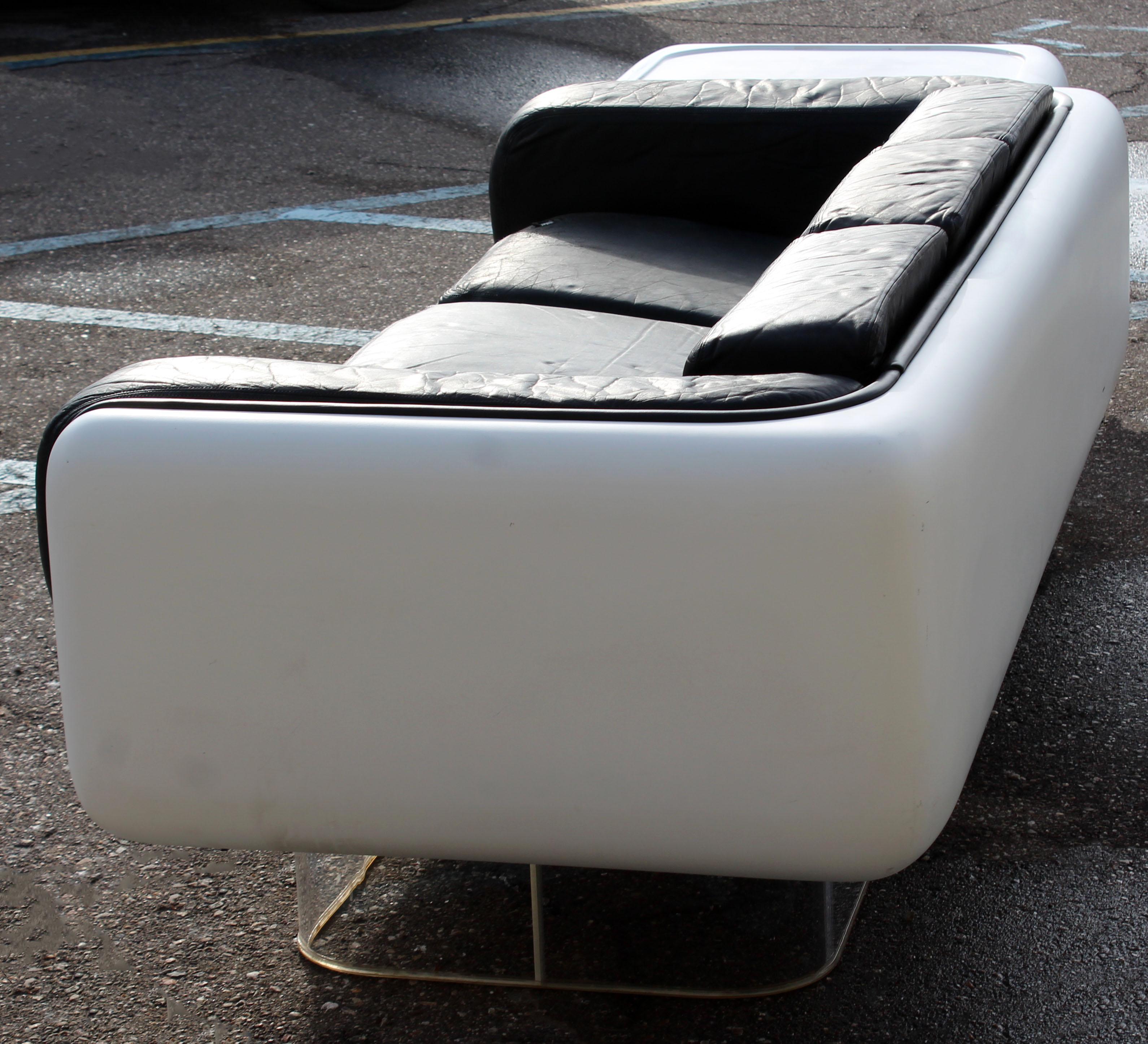 steelcase sofa platner kasala sydney luxury mid century modern warren fiberglass lucite end table for sale in detroit