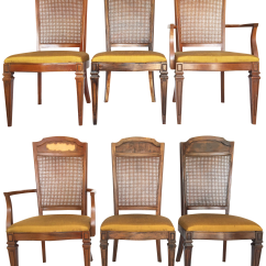 Cane Back Chairs For Sale Dxracer Gaming Chair Singapore Century Furniture Hibriten Dining Set Of 6 Chairish