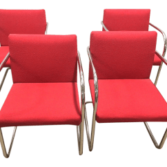 Red Chairs For Sale Portable Outdoor Chair With Canopy Thonet Chrome Cantilever Set Of 4 Chairish