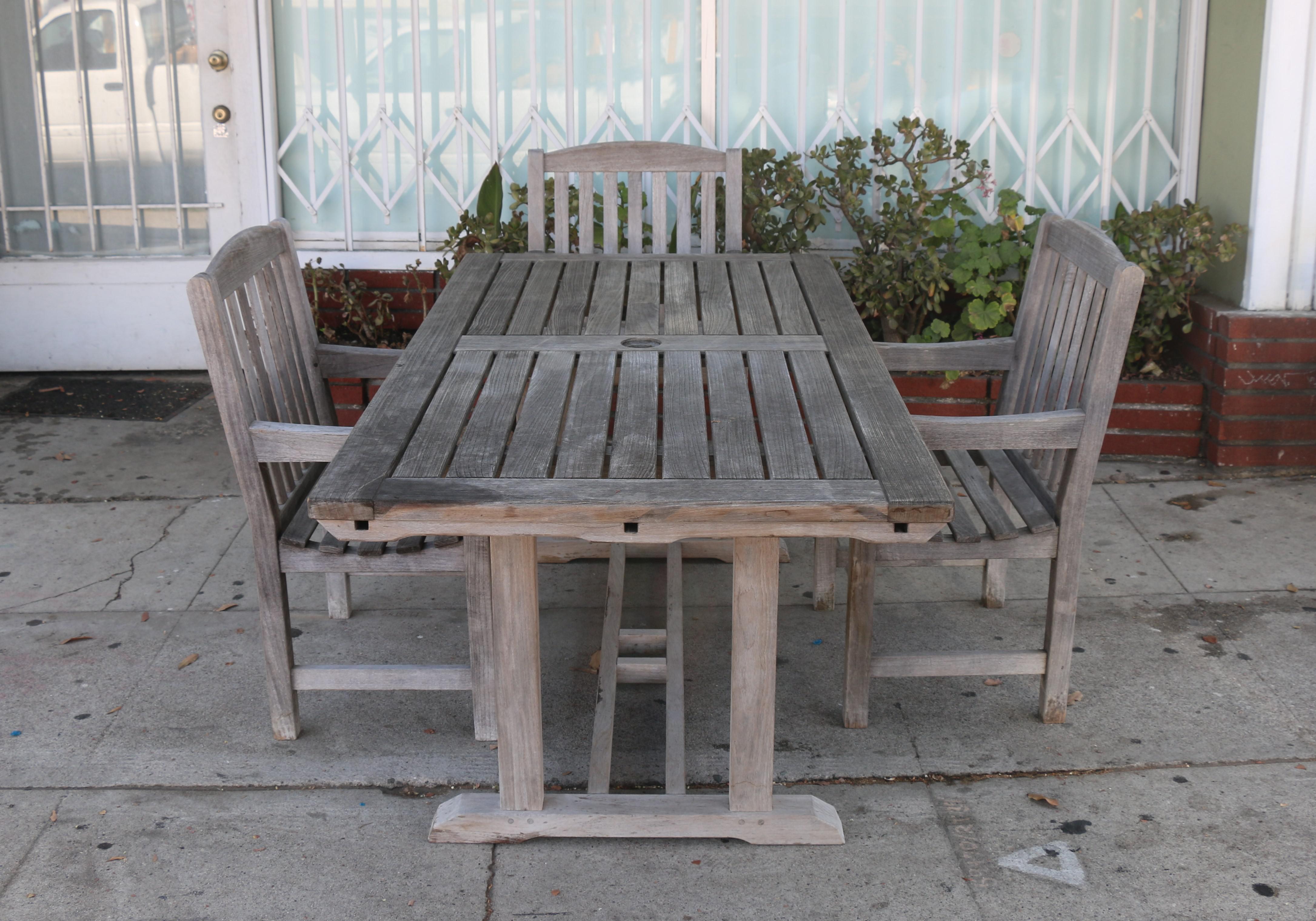 vintage smith and hawken teak outdoor patio set