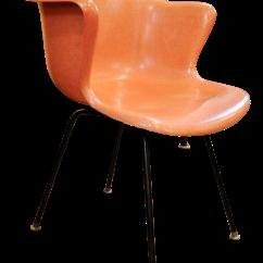 Fiberglass Shell Chair Hammock Stand Home Depot Mid Century Modern Armchair By Cole Steel Co 1950 S Chairish