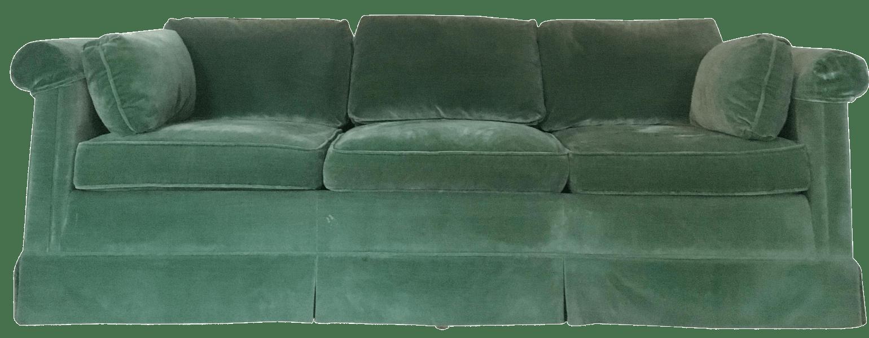 emerald green velvet chair ameriglide lift chairs baker sofa chairish