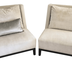 Contemporary Lounge Chairs Grey Leather Recliner Chair Uk Christian Liaigre A Pair Chairish For Sale