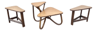 Vintage Bamboo Side & Coffee Table Set - Set of 3 | Chairish