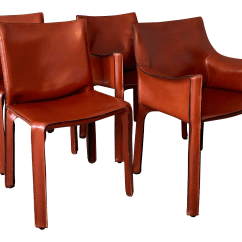 Leather Dining Chairs Shower Lowes Vintage Used Chairish 1980s Vintagemario Bellini For Cassina Cab Set Of 4 Sale