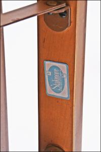 Mid Century Modern Stakmore White Vinyl Wood Folding ...