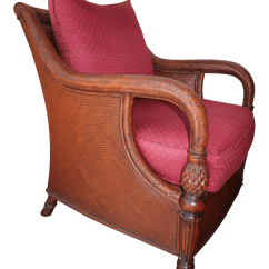 Ethan Allen Palm Grove Chair Swing For Adults Wooden Cane Armchair By Chairish Sale