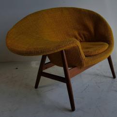 Fried Egg Chair Swivel Vanity By Hans Olsen Denmark Chairish Mid Century Modern For Sale