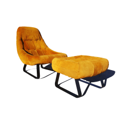Antique Beach Chair Swivel Patrol Vintage Used Ottoman Sets For Sale Chairish Mid Century Modern Percival Lafer Brazilian Space Age Earth Lounge And
