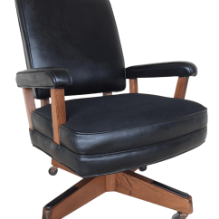 Hon Desk Chairs Man Hanging Upside Down From Chairlift Vintage Furniture Mid Century Modern Faux Leather Chair Chairish