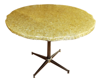 Mid-Century Modern Oyster Shell & Resin Cafe Table | Chairish